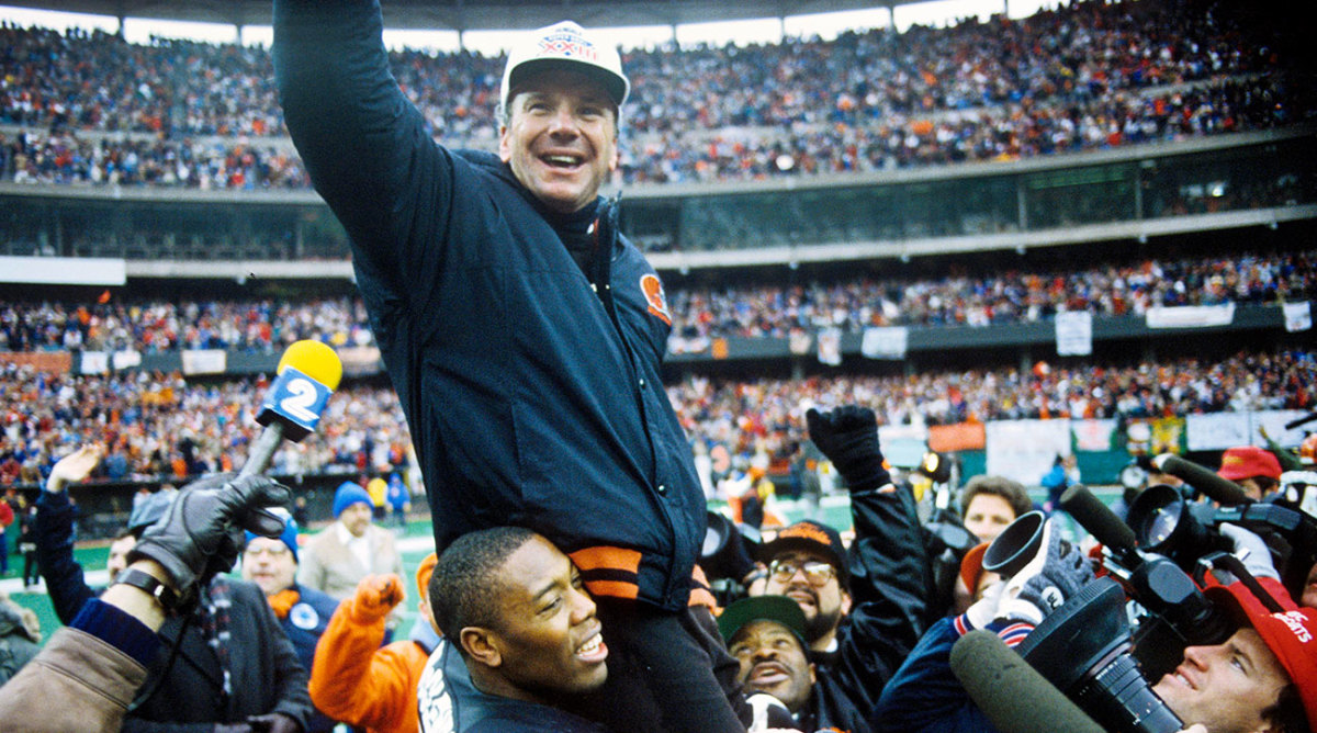 Jan 8, 1989; Cincinnati, OH, USA; Cincinnati Bengals defensive end Skip McClendon (72) holds up head coach Sam Wyche after winning the 1988 AFC Championship Game against the Buffalo Bills at Riverfront Stadium. The Bengals won 21-10.