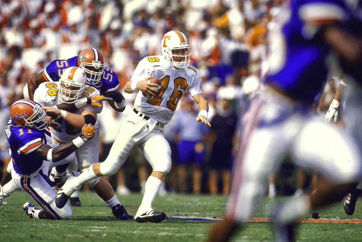 Florida Gators coach Steve Spurrier taming Tennessee's Peyton Manning