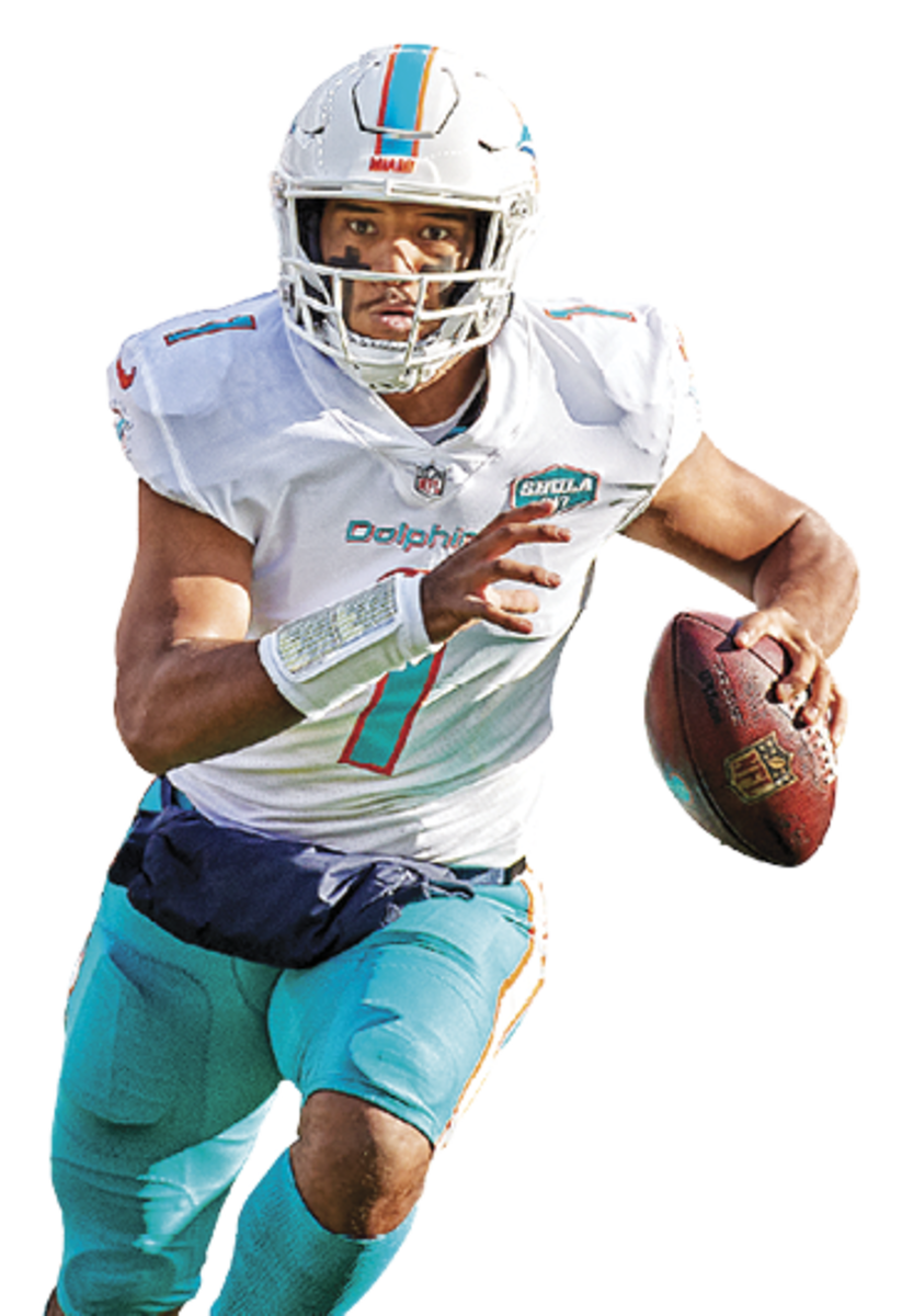 TUA TAGOVAILOA Age: 22 The Dolphins broke him in slowly, then pulled him in favor of veteran Ryan Fitzpatrick twice. With the third pick (via Houston), they could find a new QB of the future.