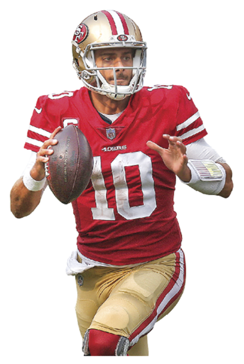 JIMMY GAROPPOLO Age: 29 In 2018 he signed the then-richest contract in NFL history and two years later started in the Super Bowl. But injuries and inconsistency have the 49ers eyeing an upgrade.