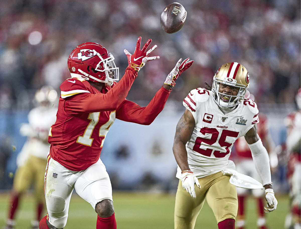 THE OTHER ONE THAT GOT AWAY Sherman (25) suffered his second Super Bowl defeat last February, then was among the many San Francisco stars who missed the majority of 2020 due to injury.